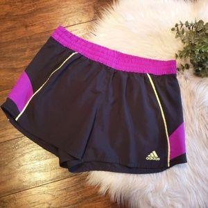 Adidas Lined Workout Shorts with Drawstring